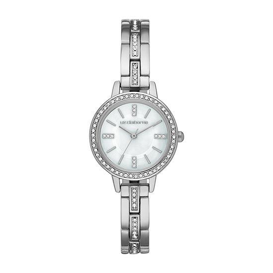 Liz Claiborne Womens Crystal Accent Silver Tone Bracelet Watch - Lc1371t