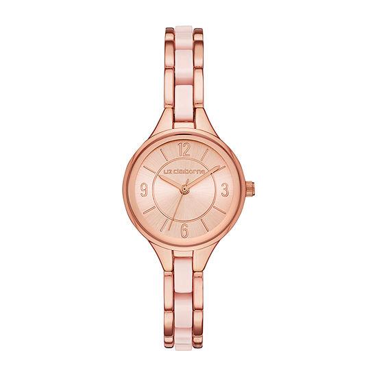Liz Claiborne Womens Rose Goldtone Bracelet Watch - Lc1376t