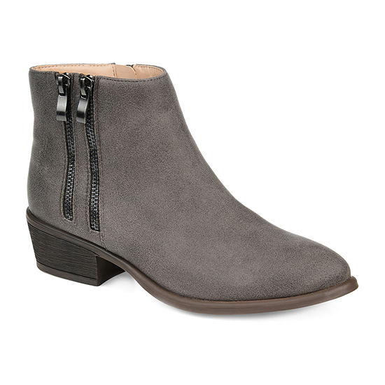 Journee Collection Womens Jayda Stacked Heel Booties