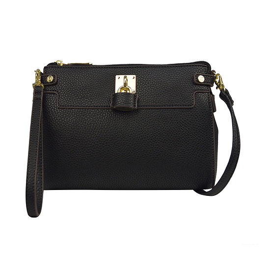Liz Claiborne Elly Lock Convertible Crossbody Bag