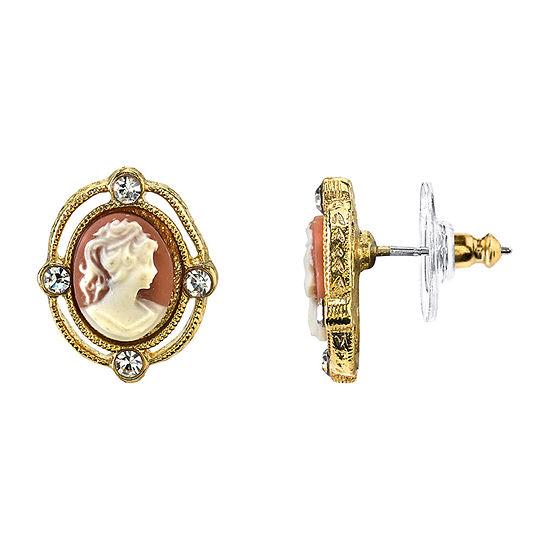Downton Abbey By 1928 Jewelry 1/2 Inch Stud Earrings