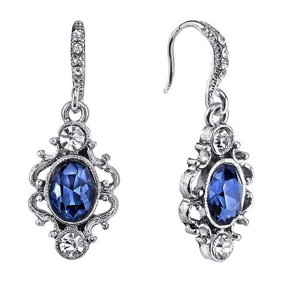 Downton Abbey By 1928 Jewelry Blue Drop Earrings