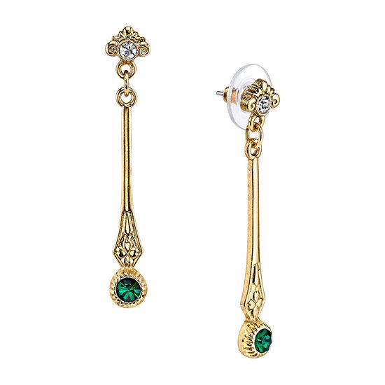 Downton Abbey By 1928 Jewelry Green Drop Earrings