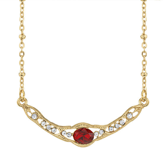 Downton Abbey By 1928 Jewelry Red 16 Inch Link Collar Necklace