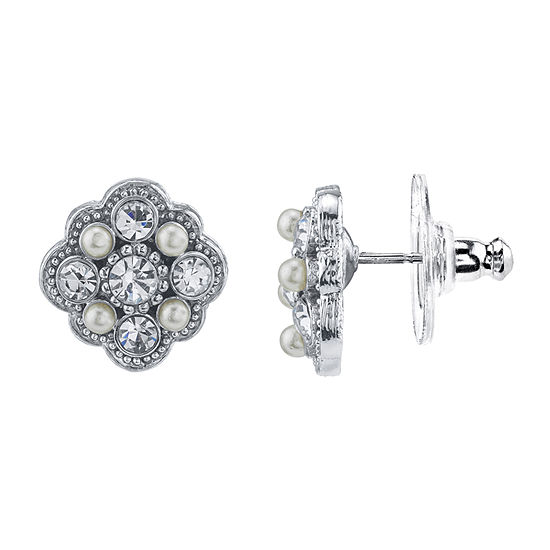 Downton Abbey By 1928 Jewelry 1/2 Inch Stud Earrings