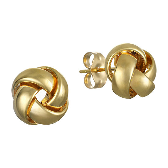 Made in Italy 14K Gold 9.9mm Knot Stud Earrings