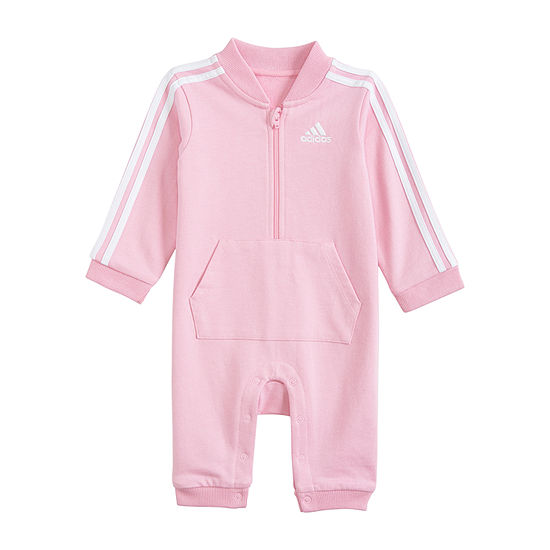 adidas Pink Girls Jumpsuit - Baby