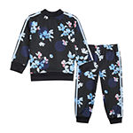 adidas 2-pc. Logo Track Suit Baby Girls