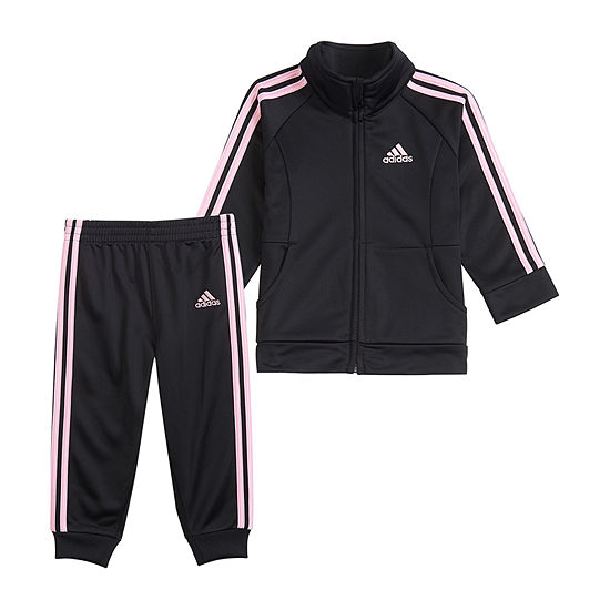 adidas Girls 2-pc. Logo Track Suit Baby