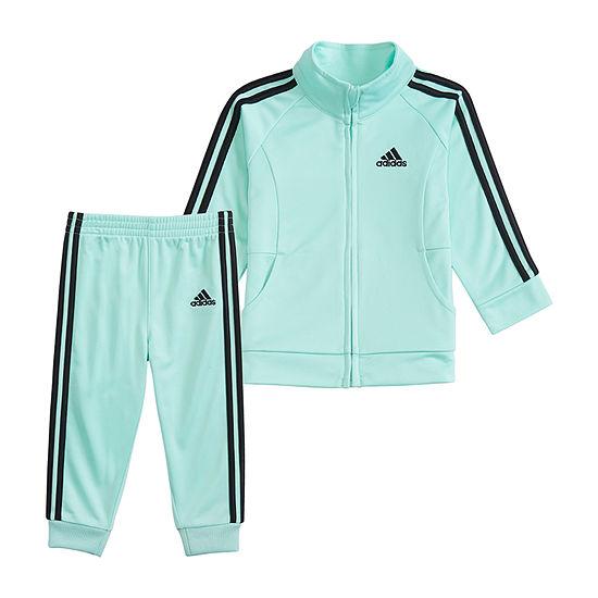 adidas Girls 2-pc. Logo Track Suit Baby