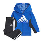 adidas Boys 2-pc. Logo Track Suit Baby