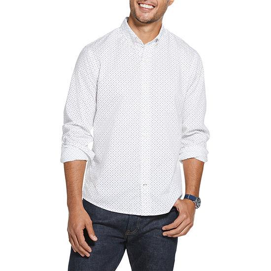 IZOD Saltwater Blues Mens Long Sleeve Button-Front Shirt