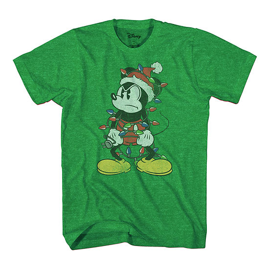 Big and Tall Mens Crew Neck Short Sleeve Mickey Mouse Graphic T-Shirt