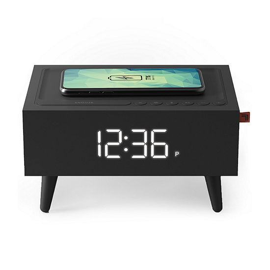 Sharper Image Wireless Charging Clock Radio + Speaker