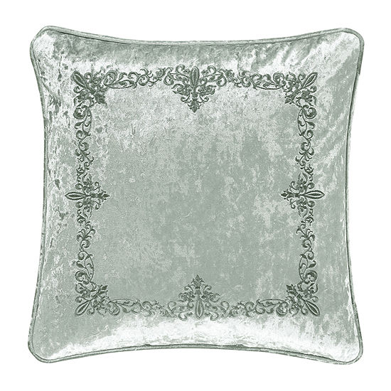 Queen Street Donna 18x18 Embellished Square Throw Pillow