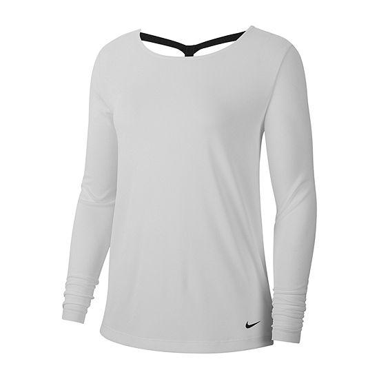 Nike Womens Boat Neck Long Sleeve T-Shirt