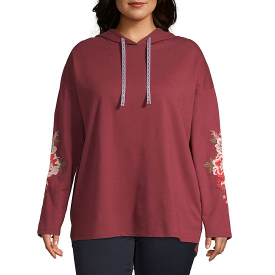 St. John's Bay Active Embroidered Hoodie - Plus