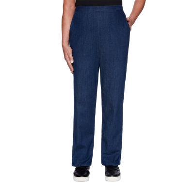 Alfred Dunner Autumn Harvest Womens Straight Pull-On Pants