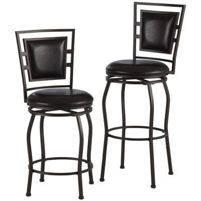 Trenton Set of 3 Adjustable Swivel Barstools