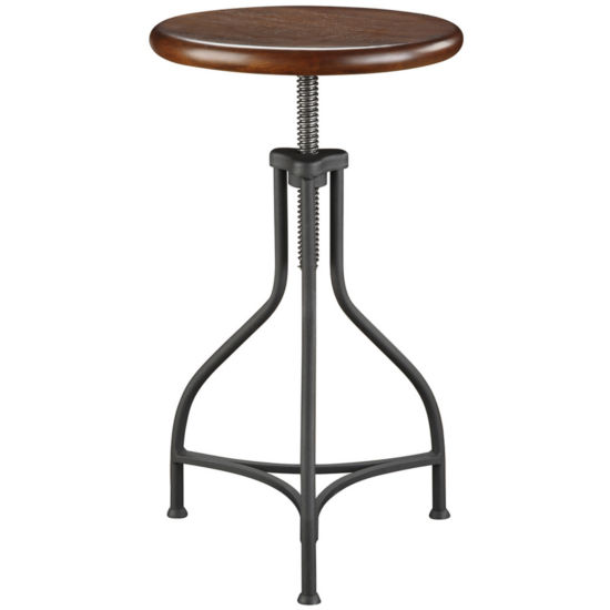 Industrial Backless Adjustable Stool