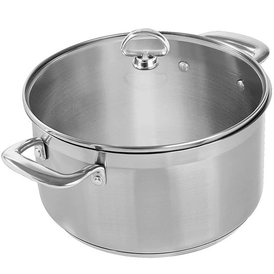 Chantal® Induction 21 Steel™ 6-qt. Casserole with Glass Lid