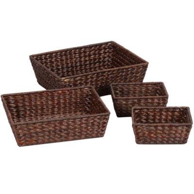 Household Essentials® Set of 4 Banana Leaf Baskets