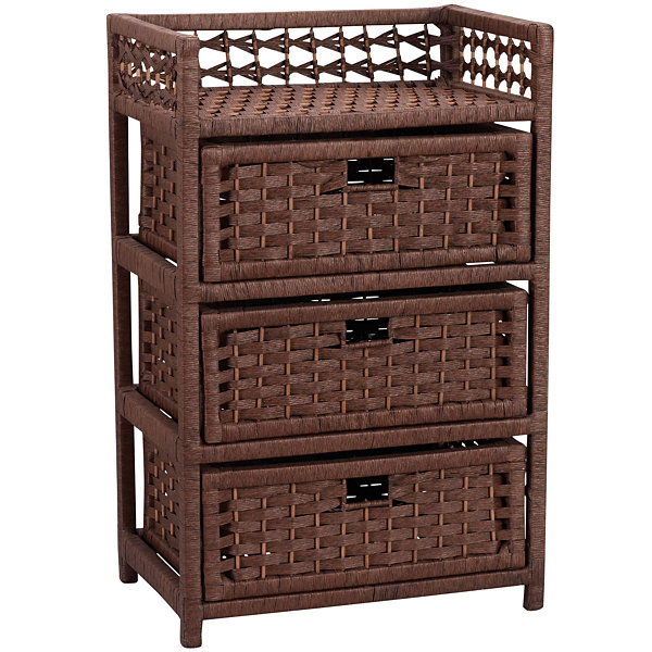 Household Essentials® Paper Rope 3-Drawer Chest