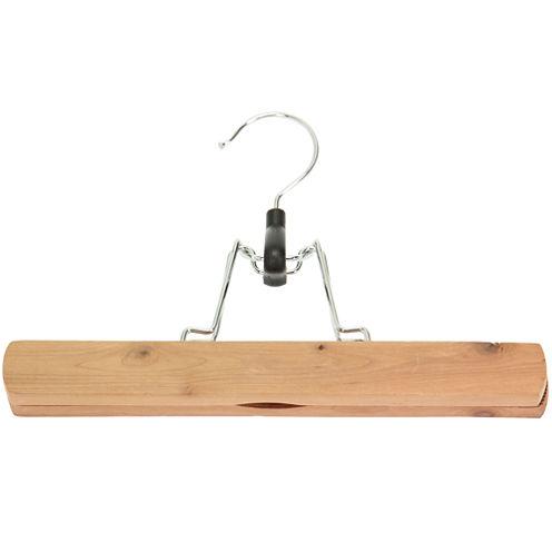 Household Essentials® Cedar Pants Clamp Hangers - 3 Pack