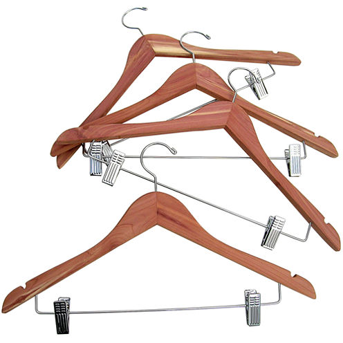 Household Essentials® Cedar Hanger with Hanging Clips - 4 Pack