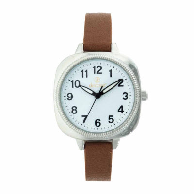 Decree Womens Brown Strap Watch-Dcr273