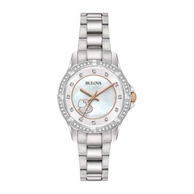 Bulova Womens Silver Tone Bracelet Watch