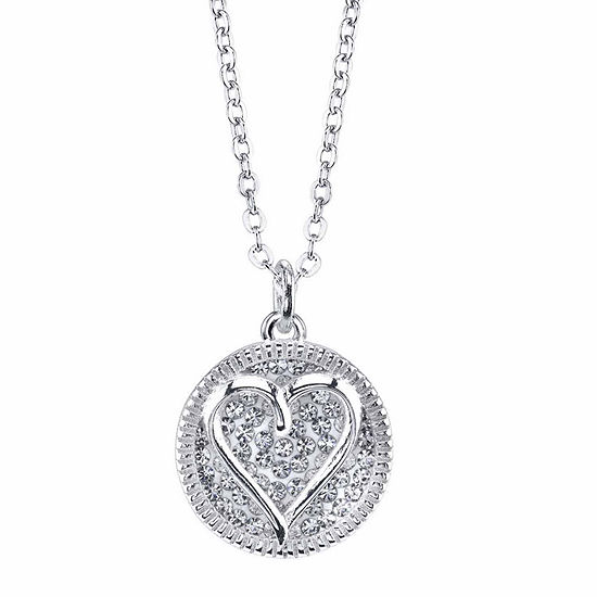 Sparkle Allure Crystal Cable Heart Pendant Necklace
