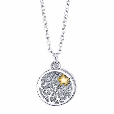 Sparkle Allure Womens Star Pendant Necklace
