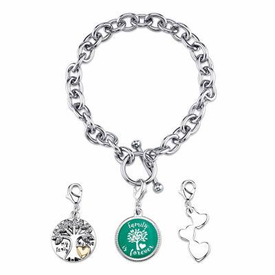 Footnotes Womens Silver Over Brass Link Bracelet