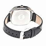 Simplify Unisex Gray Leather Strap Watch-Sim3502