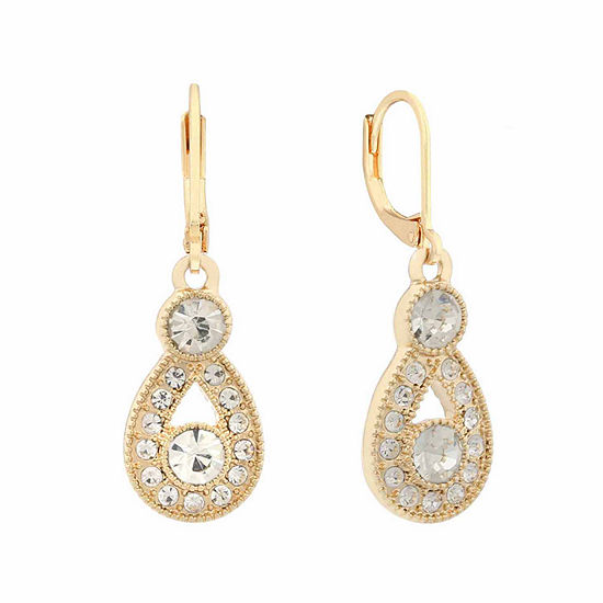 drop products zirconia earrings clear silver diamonfire pear cubic