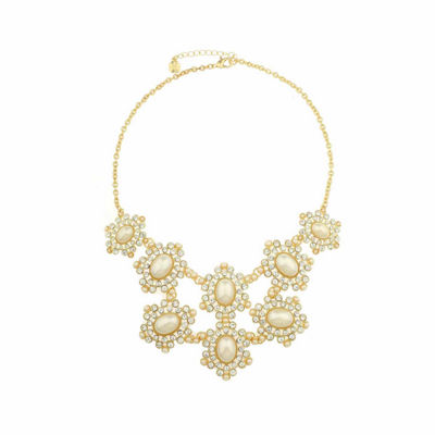 Monet Jewelry White And Goldtone Drama Necklace