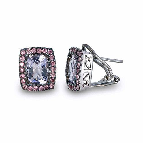Purple Amethyst Sterling Silver Stud Earrings