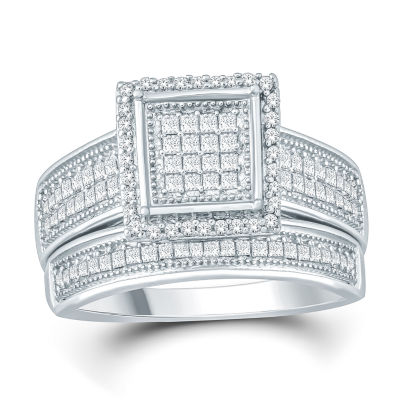 Womens 1/2 CT. T.W. Genuine White Diamond Bridal Set