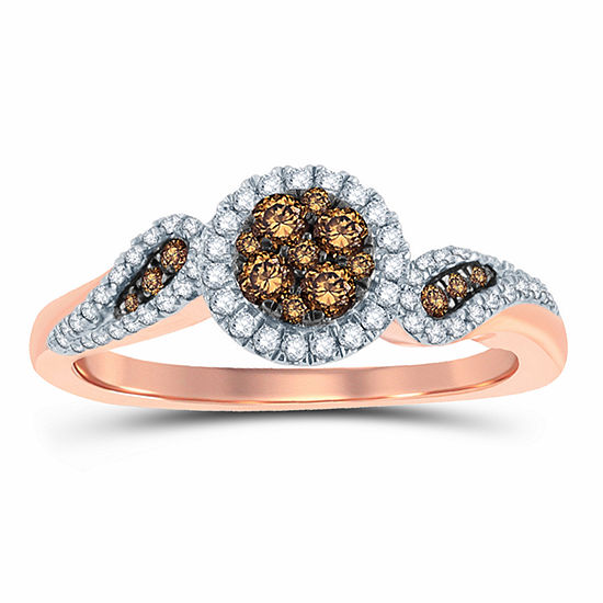 3 8 Ct Tw Round Champagne Diamond 10k Gold