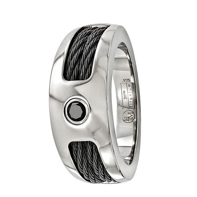 Edward Mirell Mens Black Titanium Wedding Band