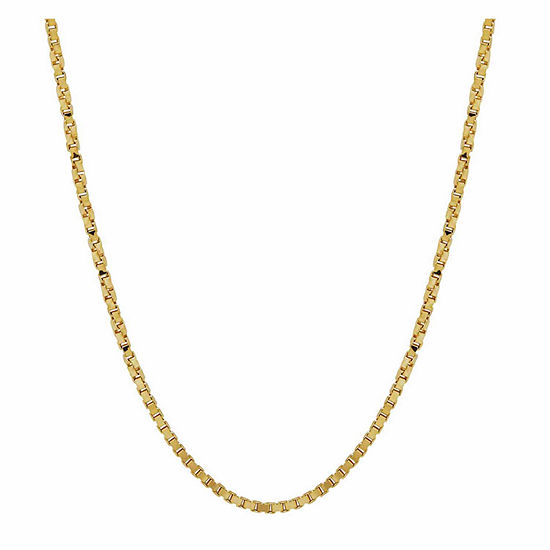 """14K Yellow Gold 1.15mm 16"""" Twisted Box Chain Necklace"""