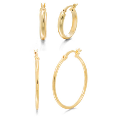 2-pc. 14K Gold Over Silver Earring Sets