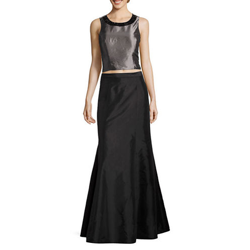 Scarlett Sleeveless Embellished Dress Set-Talls