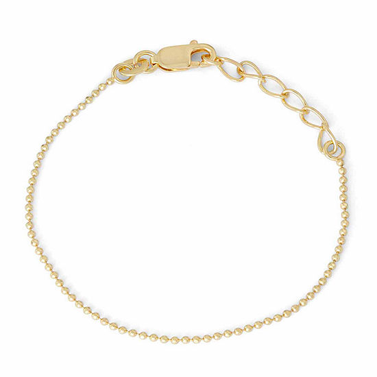 Children's 14K Yellow Gold Over Silver Bead Chain Bracelet