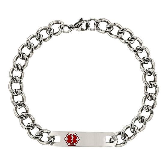 Stainless Steel 9.5 Inch Chain Bracelet