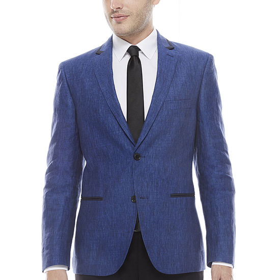 The Savile Row Company Slim Fit Indigo Sport Coat