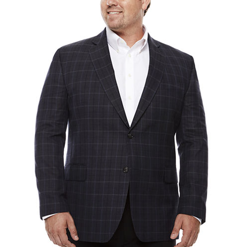 Stafford Woven Sport Coat Big and Tall