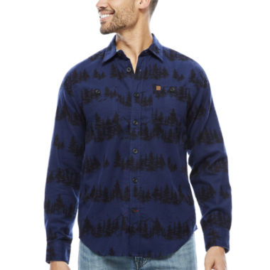 Coleman Long Sleeve Pattern Button-Front Shirt