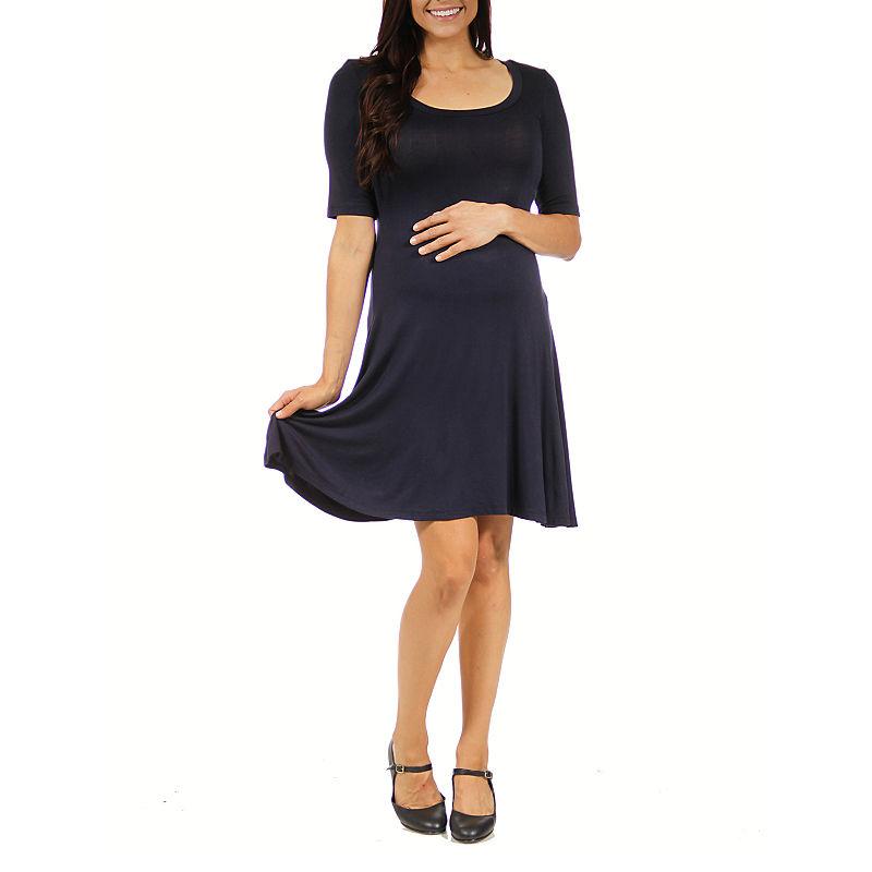 24/7 Comfort Apparel A-Line Dress-Plus Maternity plus size,  plus size fashion plus size appare